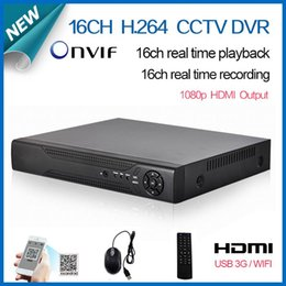Wholesale Dvr Standalone 16ch Realtime - Free shipping 16 channel cctv digital video Recorder realtime recording HDMI 1080P security surveillance 16ch standalone dvr