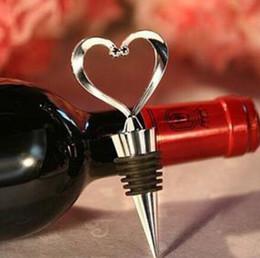 30pcs envío libre de DHL tapón de la botella de vino elegante del corazón en forma de tapas de rosca del tapón desde fabricantes