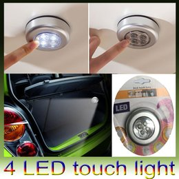 Wholesale Wall Compartments - Touch led light lamp in wall, cabinet, Corridor,Car trunk, bedside, emergency lighting portable 4 led night light lamp