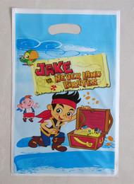 Wholesale Plastic Loot Bags - Wholesale- Jake pirate party loot bag,plastic gift bag,children kids candy bag