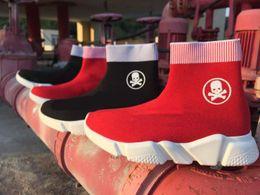 Wholesale Skull Boot Socks - new Maille Sock simple high Skull all black fashion Casual shoes balega men women Skull sock boots star trainers sneaker tess s gomma