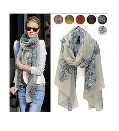Wholesale Cheap White Scarves - 2015 Fashion cheap 160*70cm High quality Blue and White Porcelain Style Thin Section the Silk Floss Women Scarf Shawl
