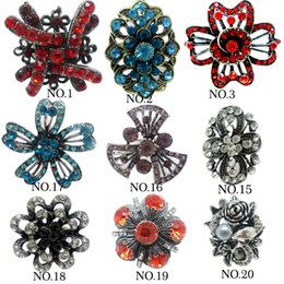 Wholesale Alloy Antique Rings Adjustable - Multi Styles mix Rings For Women 2015 New Vintage Christmas Bridal Sets Geometric antique silver Zinc Alloy Diamond Wedding Rings adjustable