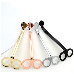 Wholesale Plate Lamp - Fashion Candle Wick Trimmer Stainless Steel Aromatherapy Candles Scissors Gold Plated Exquisite Oil Lamp Trim High End 11 5sl B