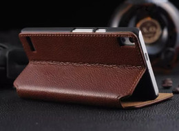 Wholesale Huawei P6 Pouch - High Quality For Huawei P6 P6S Case Flip Cover Stand Wallet Luxury Original Colorful Slim Genuine Leather Case For Huawei Ascend P6 P6S