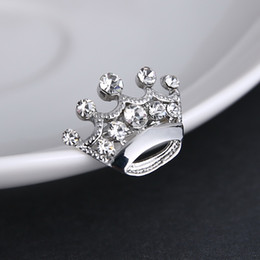 Wholesale Christmas Pins For Cheap - Cheap Custome Jewelry Imperial Crown Brooches Best Gift for Christmas Rhinestone Brooch Wedding Bridal Jewelry Gift Pin Broches Accessories