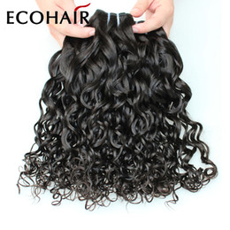Wholesale Cheap Hair Spirals - 2016 New Cheap Water Wave Virgin Malaysian Jerry Curl Hair Weave 3Pcs Malaysian Spiral Curl Human Hair Bundles Bouncy Curly Hair