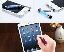 Wholesale Swarovski Plug - Swarovski crystal stylus capactive Touch screen pen with 3.5mm dustproof plug for Ipod Ipad2 3 Ipadmini Iphone4s Iphone5 Tablet PC US47