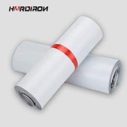 Wholesale Mail Wire - Wholesale- HARD IRON White color self-adhesive poly mailer White poly mailing post envelope pouches Plastic Express Courier bags