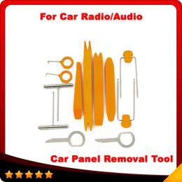 Wholesale Bmw Code Reader Tool - 2015 Hot selling 1 Set 12Pcs Plastic Car Radio Door Clip Panel Trim Dash Audio Removal Pry Tool Repairing 1VUY free shipping
