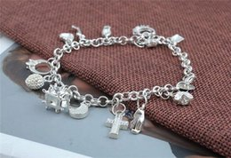 Wholesale Low Price Christmas Gift Set - New 925 silver Bracelet B82 Wholesale Retail lowest price Fashionable And Hot Sale Christmas gift, free Shipping