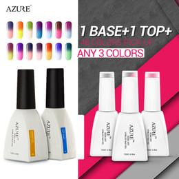 Wholesale Gelish Color Gel Nail Polish - Wholesale-Choose 3 Colors +Base +Top Azure Professional gel Uv Soak Off Led Gel Nail Polish Gelish Nail gel polish uv Temperature Color