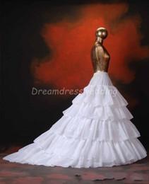 Wholesale Train Fashion Accessories - White Ivory 5 Layers Petticoats Wedding Dress Underskirt 2014 Ball Gown Petticoats 2015 Bridal Accessories Fashion Petticoat Cheap Hot