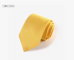 Wholesale Yellow Stripe Tie - HOT SELL! NEW Formal Necktie 100%Silk Elegant Woven Stripe Jacquard Man's Tie