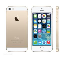 Wholesale A7 4g - Apple iPhone 5S IOS 8.0 4G FDD-LTE 4.0 inch Retina Screen Dual Core A7 1.3GHz 1GB RAM 16GB 32GB 64GB ROM Brand New Refurbished Smart Phone
