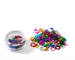 Wholesale Glitter Powder For Nails - 12 Colors Nail Glitter Fashion DIY Letter & Numeral Glitter Powder Nail Art Decoration For Glitter Nail Free Shipping DHL6809