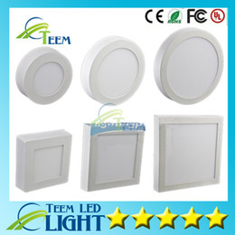 Wholesale round panel 15w - Dimmable 9W 15W 21W Round   Square Led Panel Light Surface Mounted Led Downlight lighting Led ceiling down spotlight 110-240V + Drivers