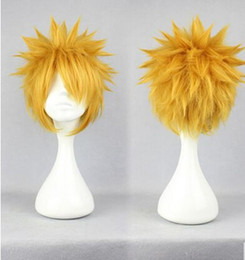 Wholesale Naruto Cosplay Hair - Naruto COS Cosplay Wigs 2016 For Halloween Cheap Hair Products Elegant Sexy New Arrive Free Shipping In Stock Boy Wig 30CM