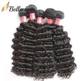Wholesale Malaysia Deep Wave - Brazilian Hair Bundles Remy Human Hair Peruvian Virgin Hair Malaysia Indian Mongolian Deep Wave %100 Natural Human Hair Weave Cheap Hair 3pc