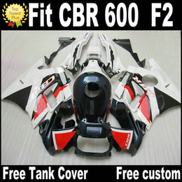 honda cbr f2 red fairings Promo Codes - Free 7 Gifts fairing kit for HONDA CBR 600 F2 1991 1992 1993 1994 white red black fairings CBR600 91 - 94 motobike RF33