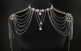 Wholesale Jewelry Wraps Shoulder Crystal - Fashion Wedding Shoulder Chain Noble Jewelry Rhinestones Crystal 2017 Newest Bridal Wraps Cheapest Beading Woman Accessories