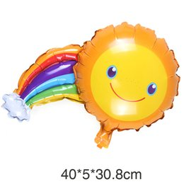 Wholesale Sun Foil - Large Sun Rainbow Balloon Helium Ballon for Smiling Birthday Party Decoration Kids Children Toy Foil Globos Balloons