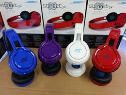 Wholesale Sms Audio Wireless Street - SMS Audio Street by 50 Cent Wired On-Ear Headphones PC Foldable Mini Headset without Mic and Remote 1pcs
