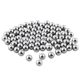 Wholesale Steel Ball For Slingshot - 100pcs lot Stainless Steel Balls 7mm for Slingshot Catapult Replacement Outdoor Hunting Balls Bike Bearing Free Shipping order<$18no track