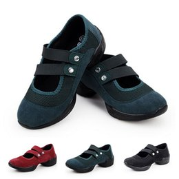 Wholesale Dance Shoes Square Toe - Wholesale Square Dance Shoes Girls Modern Fashion Dance Shoes Ladies Casual Shoes Size 36-40 TY0047 smileseller