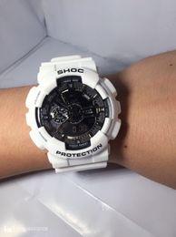 Wholesale Big Band - 2017 new SHOCK, digital LED men's sports quartz watch's watch band rubber army quartz watch waterproof wrist ga110, functional work, box big