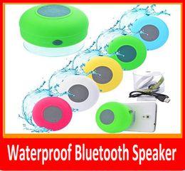 caja de mp4 mp3 Rebajas Portátil a prueba de agua inalámbrico Bluetooth Altavoz Ducha Coche manos libres Recibir llamada mini Suction Phone IPX4 caja de parlantes jugador