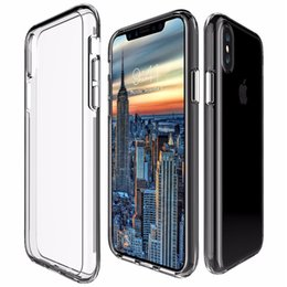 Wholesale Clear Iphone Cases Shockproof - For Iphone 8 Case Transparent Clear Hybrid Bumper Shockproof Case Cover Phone Accessories For Iphone 8 8plus
