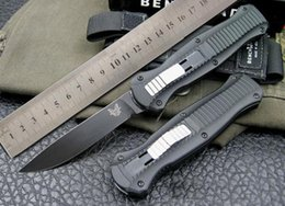 Wholesale Good Quality Survival Knives - Top quality Black Blade Benchmade BM 3310BK Infidel tactical Knife good action Plain EDC gear pocket survival knives.