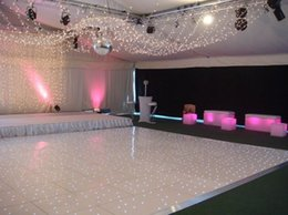 Wholesale Led Dance Floor Wedding - Wholesale-For wedding party bar DMX Stage Lighted portable interactive led video starlight dance floor