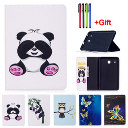 Wholesale Galaxy Folio Case - Panda Pattern PU Leather Flip Case For Samsung Galaxy Tab A 7.0 T280 T285 Tab A 8.0 T350 T355 Tab E 8.0 T377 Tablet Cover With Card Slot