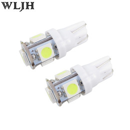 Wholesale 158 Led - Car led light 5SMD 5050 T10 W5W 152 158 159 2825 558 555 194 921 152 168 LED car wedge signal Light Bulb