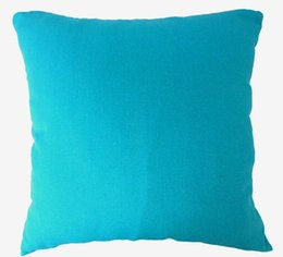 "Wholesale Turquoise Cushion Covers - AA 138 - 28"" x 28""(71 x 71cm) Plain Turquoise Regular 12 Oz Thick Cotton Canvas Pillow Case Cushion Cover, Custom Made Size"