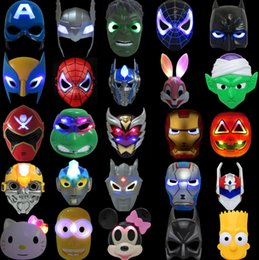Wholesale Large Plastic Masks - Wholesale plastic masks, large collection of cartoon masks, ball props, anime peripheral toys glowing masks, free shipping
