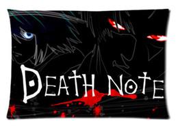 Wholesale Death Note Case - Custom death note Anime Soft Fashion Style Cotton Linen Decorative Suitbale Single Pillow Case Size 50x75cm(Twin Sides) U06-29