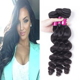 Wholesale Wholesale Milking Machine - 3pcs 8-26 Inches Loose Wave Brazilian Peruvian Malaysian Indian Milk Loose Wave Brazilian Peruvian Human Hair Weft Virgin Human Hair Weave