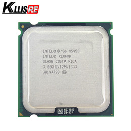Wholesale Intel Motherboard Cpu Desktop - Intel Xeon X5450 Processor 3.0GHz 12MB 1333MHz CPU works on LGA775 motherboard