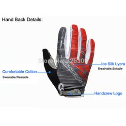 Wholesale Handcrew Bike Gloves - Wholesale-New Handcrew Mountain Bike cycling Gloves Full Finger GEL men Shockproof Sport Bicycle Gloves Green S Women