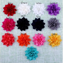 """Wholesale Double Flower Baby Headbands - 15% off new 2015 3.6"""" 13Colors Artificial Double-Layer Lotus Flowers For Baby Hair Accessories Fabric Flowers For Headbands 240pcs"""