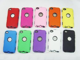 Wholesale Defender Case 4g - PC+Silicone Hybrid Rugged Impact Robot Cover Case for iPod Touch 4 4G 5 5G iphone 3gs iphone 3g Defender Shell High Quality 50pcs