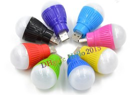 Wholesale Led Bulbs Wholesale China - Portable Colorful mini usb led bulb lamp USB led flashlight night lamp emergency lighting portable led lamp with High Quality,Free Shipping