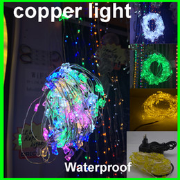 Wholesale fairy wholesale supplies - Factory Price 10m 100 light 10m Holiday LED Copper String Light Decoration Fairy Light With Copper Wire +12v 2A power supply
