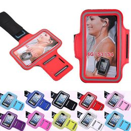 Wholesale Galaxy S3 Arm - Stylish WaterProof Sport Gym Running Armband Protector Soft Pouch Case Cover For Samsung Galaxy S3 SIII i9300 S4 i9500 iphone 6 Arm Band