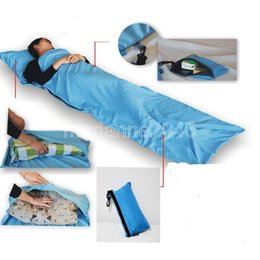Wholesale Goose Camping - Wholesale-Silk Single Liner Portable Inner Travel Hostel Sheet Sack Camping Sleeping Bag
