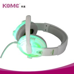 Wholesale Wholesale Dj Speakers - 2016 KOMC G10 New Games Headphone 7.1Channels LED Headphone Headsets Noise cancelling DJ Headphones High Performance