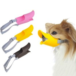 Wholesale Dog Mouth Cover - Small Dogs Duck Mouth Muzzle Funny Dog Mouth Cover Anti-bite Duckbilled Muzzle Mouth For Teddy Dog Silicone Muzzle